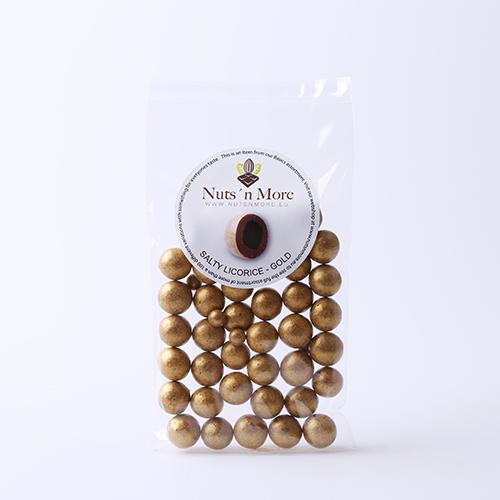 Salmiak lakrids – Mælkechokolade og guld