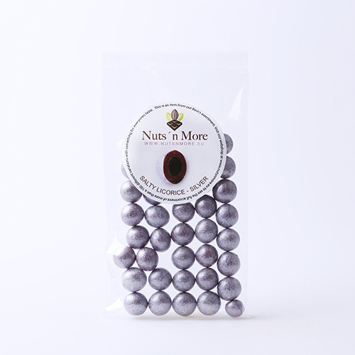 Salmiak lakrids – Mælkechokolade og sølv